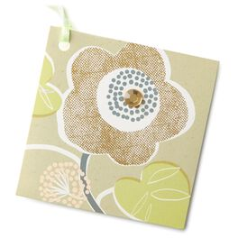 Modern Floral Gift Tag With Ribbon, , large