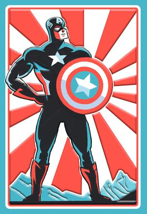 Captain America Better Than Ever Birthday Card