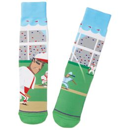 Take Me Out to the Ball Game Baseball Toe of a Kind Socks, , large