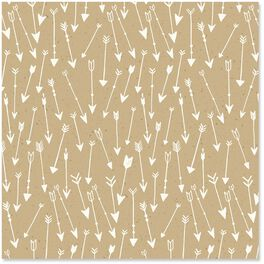 Arrow Pattern on Kraft Wrapping Paper Roll, 15 sq. ft., , large
