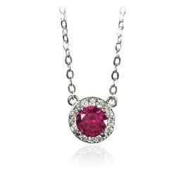 July Ruby Birthstone Necklace, July Ruby, large