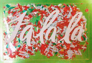Fa La La Christmas Card Money Holder