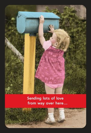 Mailbox Sending Lots of Love Thinking of You Card