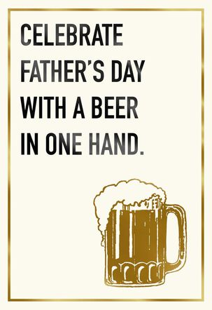 Two Frosty Cold Beers Father's Day Card