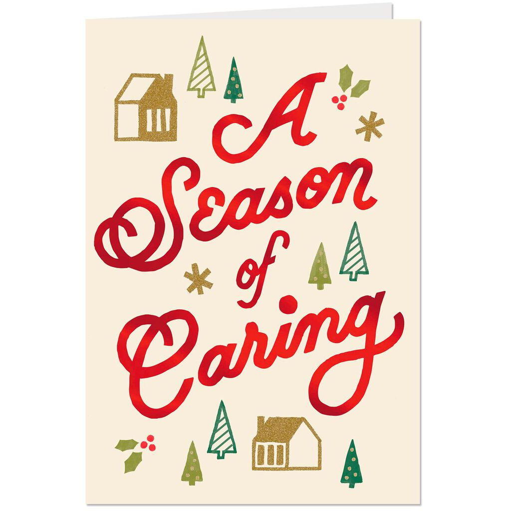 Year-Round Caring Thank You Christmas Card - Greeting Cards - Hallmark