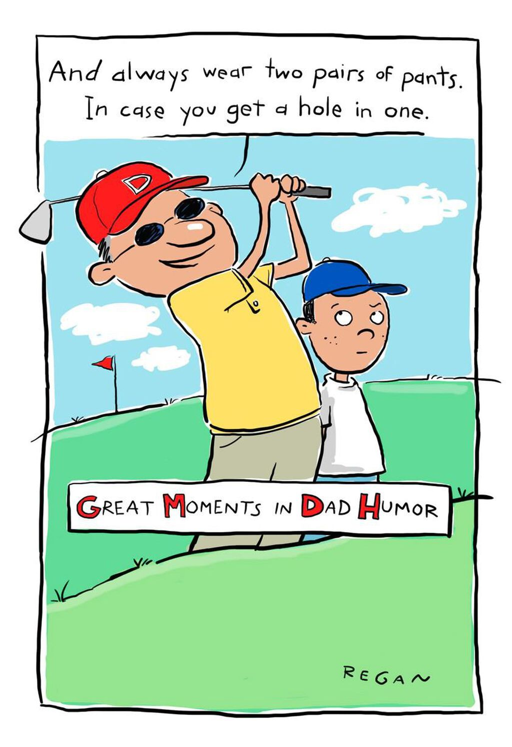 Golf Humor Funny Fathers Day Card