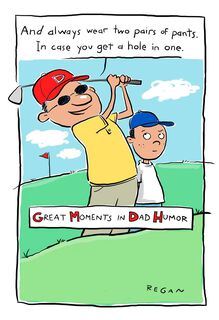 Golf Humor Funny Father's Day Card,