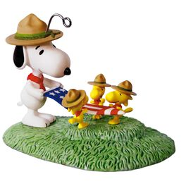 PEANUTS® Snoopy Flag Folding Ceremony Ornament, , large