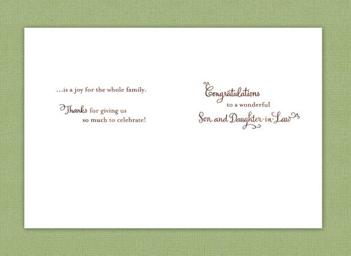 Bouquet and Rings Wedding Card for Son and Daughter-in-Law,