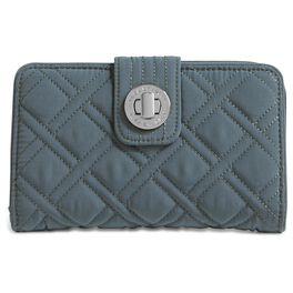 Vera Bradley Charcoal Turnlock Wallet, , large