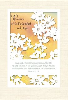 Promises of God's Comfort and Hope Religious Sympathy Card,