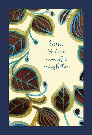 Wonderful and Caring Father's Day Card for Son