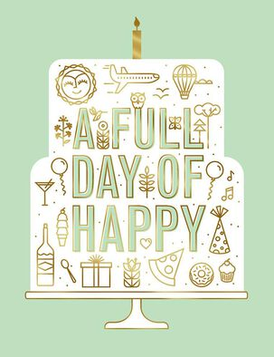 A Full Day of Happy Birthday Card