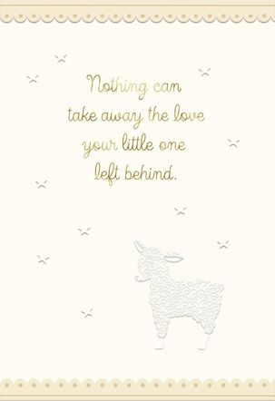 Lamb and Stars Loss of Your Child Sympathy Card