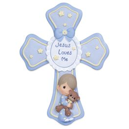 Precious Moments® Jesus Loves Me Cross for Boy, , large
