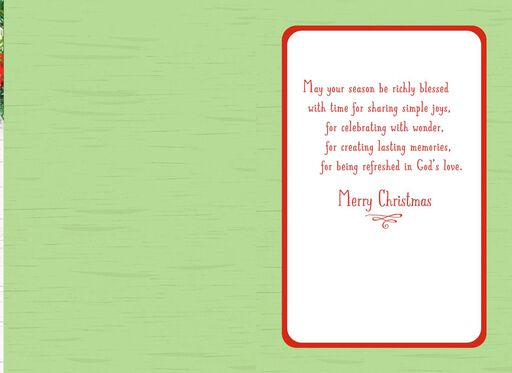 Be Refreshed in God's Love Christmas Card,