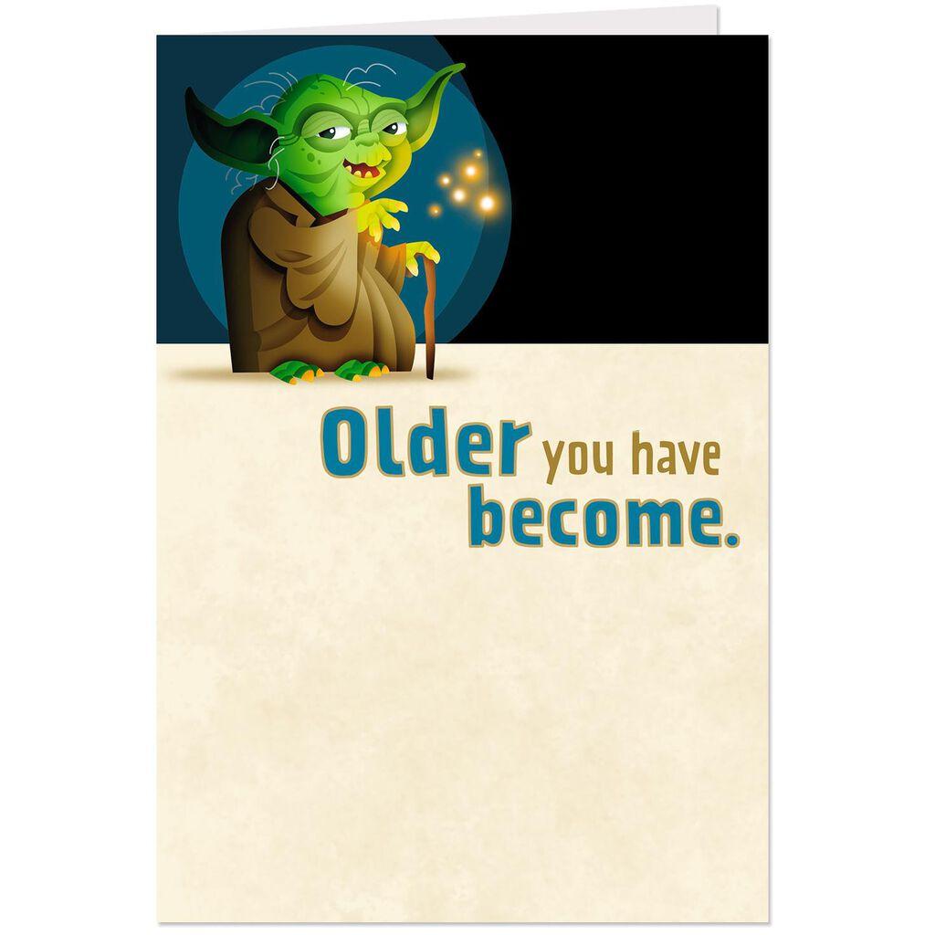 Star Wars Yoda Celebrate We Must Pop Up Birthday Card Greeting