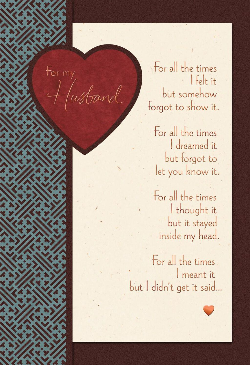 for all the times sweetest day card for husband - greeting cards