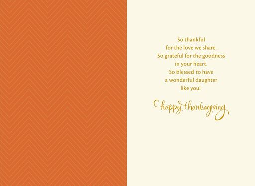 For Daughter Thanksgiving Card,
