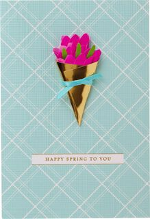 Floral Bouquet Easter Card,