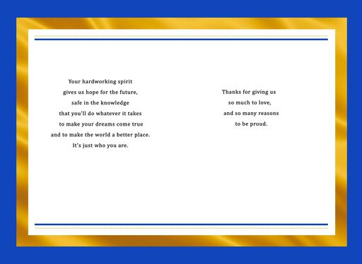 Gold Dot Graduation Card for Son,