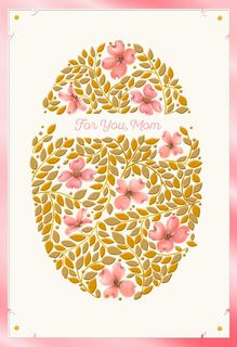 Decorated Golden Egg Easter Card for Mom,