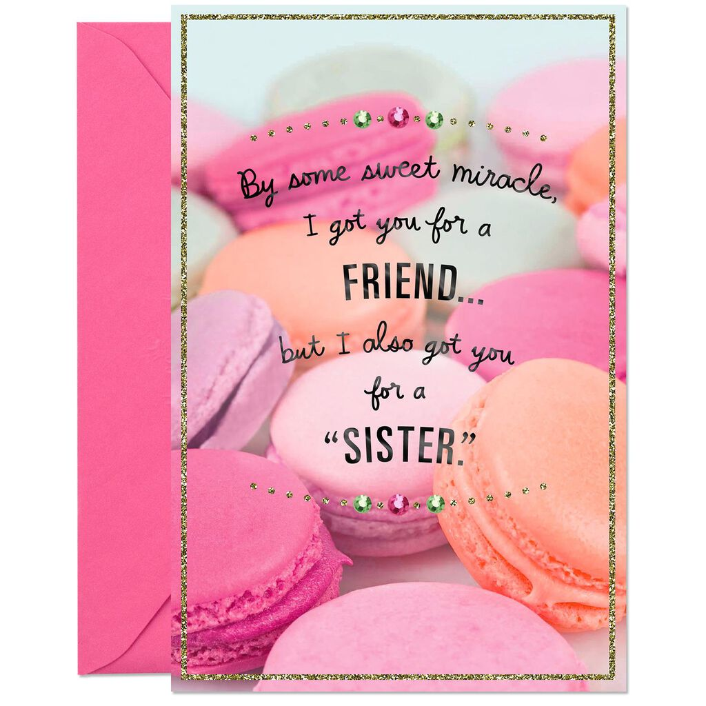 Love You Like A Sister Birthday Card For Friend