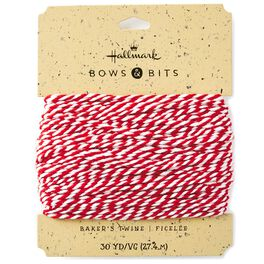 Red and White Baker's Twine, 4.3 yds., , large
