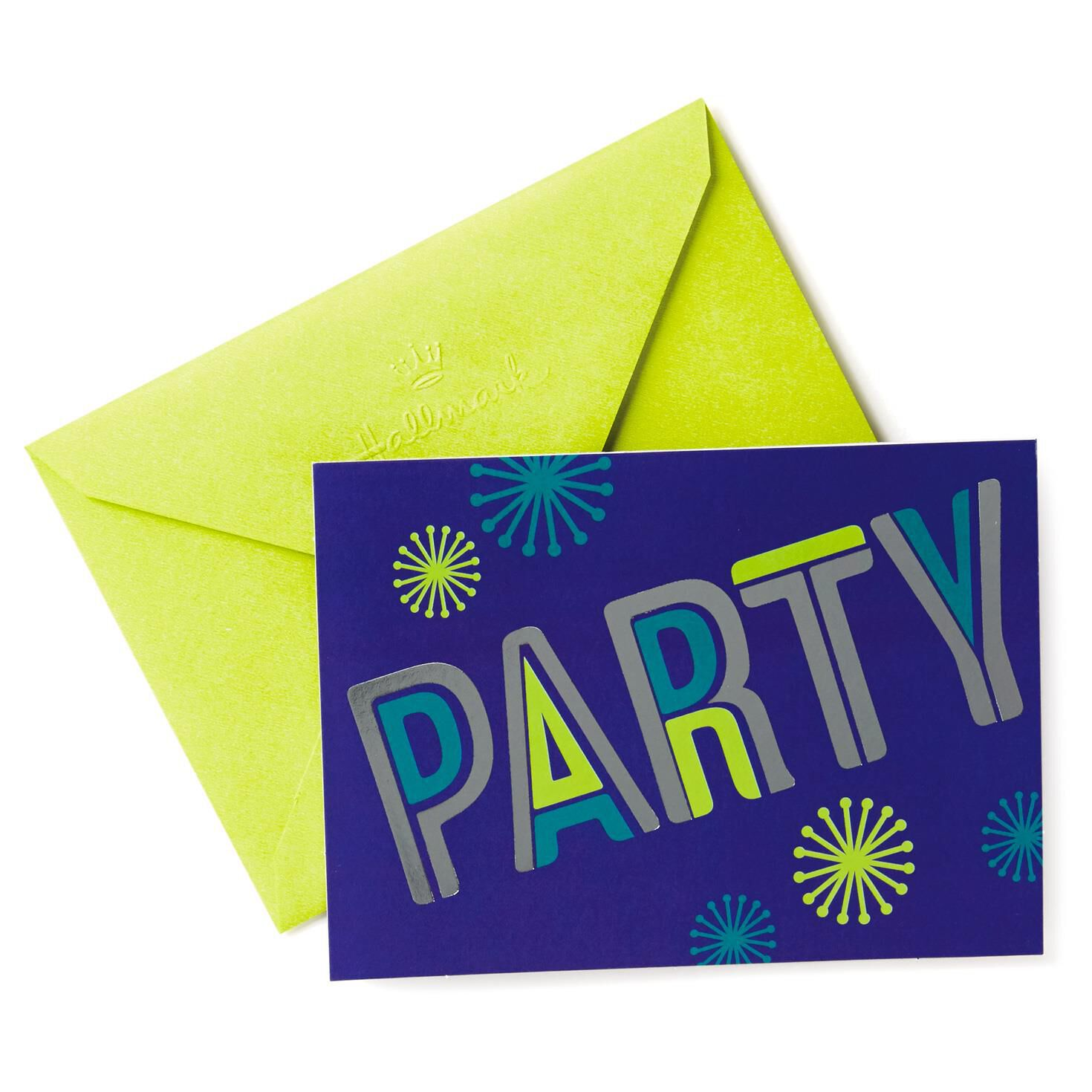 Shiny Disco Party Invitations Pack of 10 Boxed Cards Hallmark – Packs of Party Invitations
