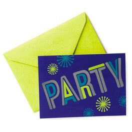 Shiny Disco Party Invitations, Pack of 10, , large