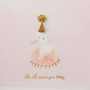 All About You Party Cat Birthday Card