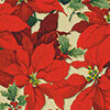 Luxe Poinsettia Metallic Ink Christmas Wrapping Paper Roll, 45 sq. ft., Luxe Poinsettia
