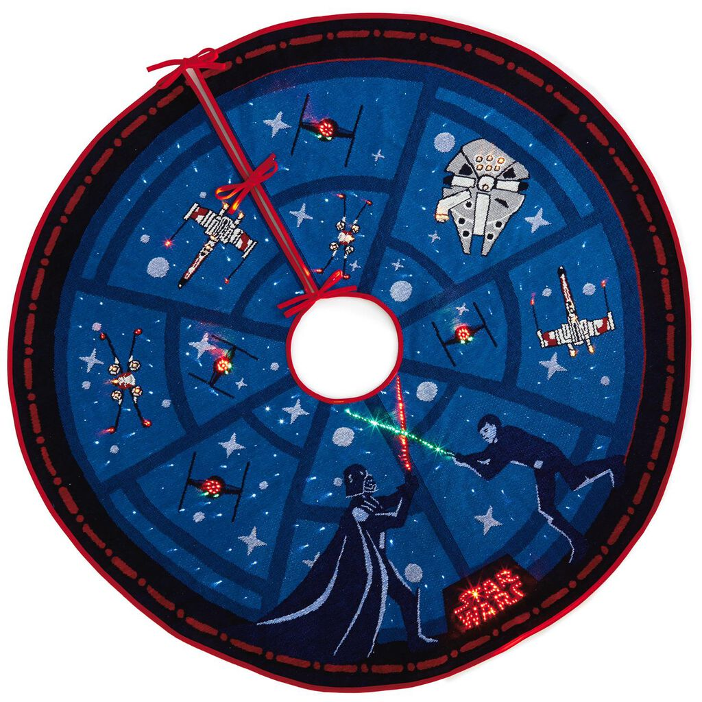 bfa96f1f2ee7e Star Wars™ The Force Is Strong Tree Skirt With Light - Keepsake ...