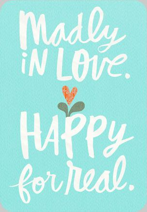 Madly In Love Wedding Card