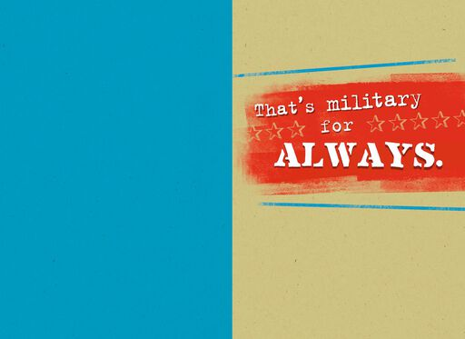 Military Time Thinking of You Card,