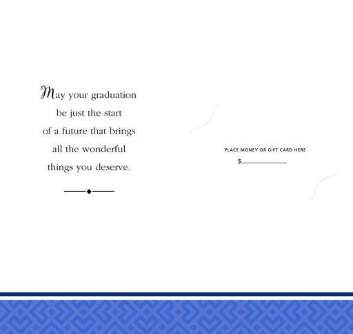 Blue Diamond Money Holder Graduation Card, Pack of 10,