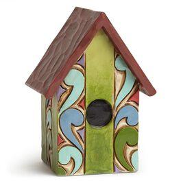 Jim Shore Mini Striped Birdhouse Figurine, , large