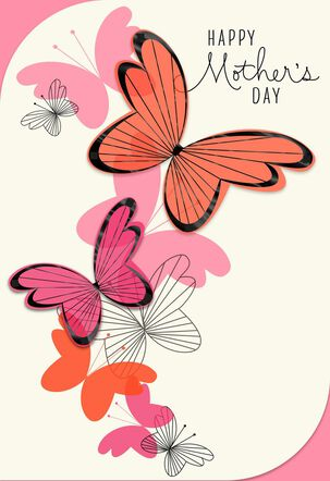 Sweet Day Butterflies Mother's Day Card