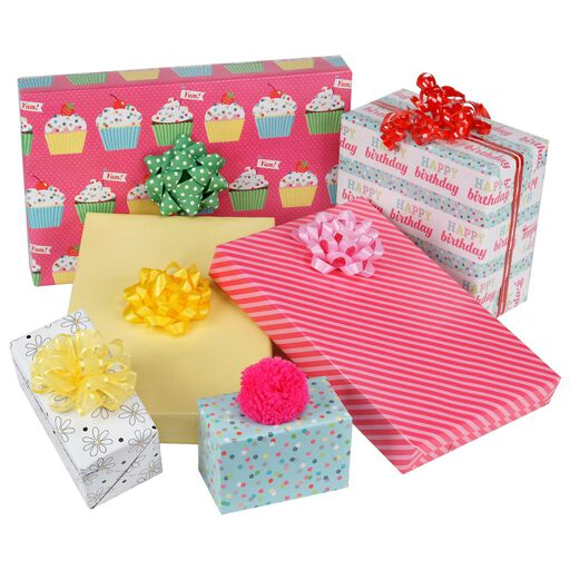 Sweet Birthday 3 Pack Reversible Wrapping Paper Rolls