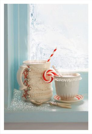 Cozy Mugs Christmas Card