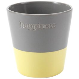 """Small Happiness Yellow Dip Pot, 5"""", , large"""