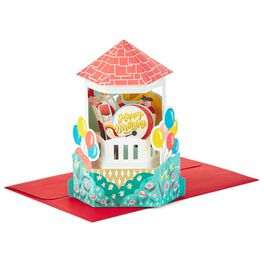 Old-Time Town Square Celebration Pop Up Birthday Card, , large