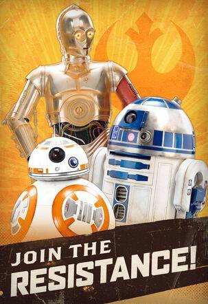 Star Wars™ Resistance Droids Birthday Cake Sound Card