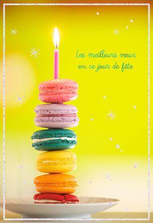 Macarons French-Language Birthday Card
