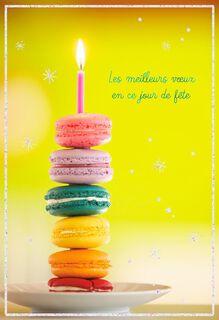 Macarons French-Language Birthday Card,
