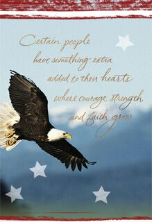 Courageous, Strong, Faithful Military Thank You Card,