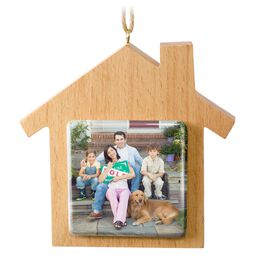 Wood Home Personalized Ornament, , large