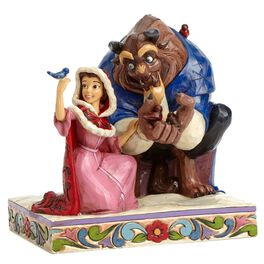Jim Shore Something There—Beauty and the Beast in Winter Figurine, , large
