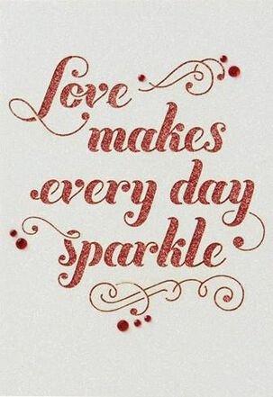 Every Day Sparkles Valentine's Day Card