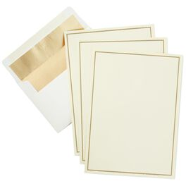 Gold Border Stationery, Box of 20, , large